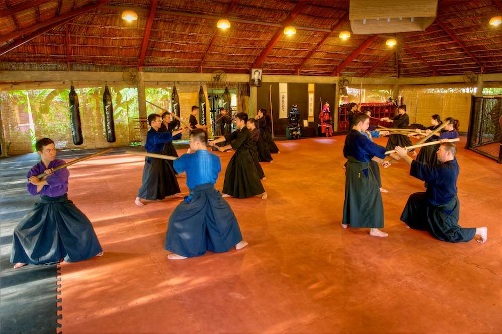 Kamae-training